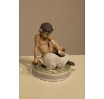 Faune et lapin en porcelaine Royal Copenhage