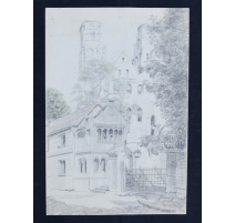 "Dessin ""Abbaye de Jumièges"""