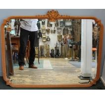 Miroir style Louis XVI fronton aux flambeaux