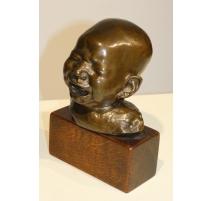 """Buste en bronze """"Enfant pleurant"""""""