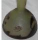 Vase de GALLÉ, brun-jaune.