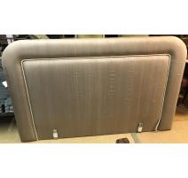 Tête de lit rembourée grise