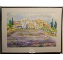 "Aquarelle ""Provence"" signé E. KOLLER 98"