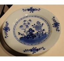 Assiette en porcelaine chinoise (réparée)