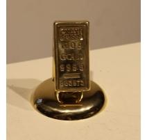 """Porte-cartes """"Lingot d'or"""" avec support de table"""