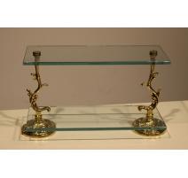 Etagère en verre et laiton Baroque