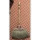 Balayette de cheminée en bois décor fleur