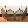 Pare-feu forme pagode en laiton à 4 vanteaux