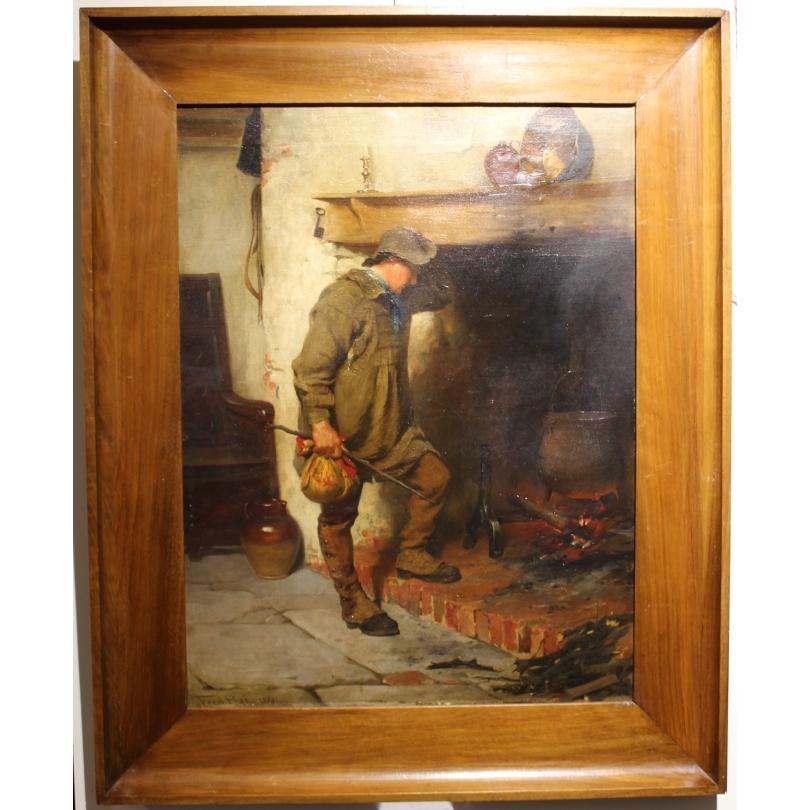 Tableau Anglais Homme A La Soupe Signe Fred Roe Moinat Sa Antiquites Decoration