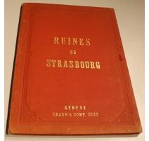 "Livre ""Ruines de Strasbourg"" par BROUTTA"