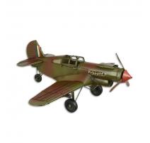 Modèle d'avion en tôle polychrome