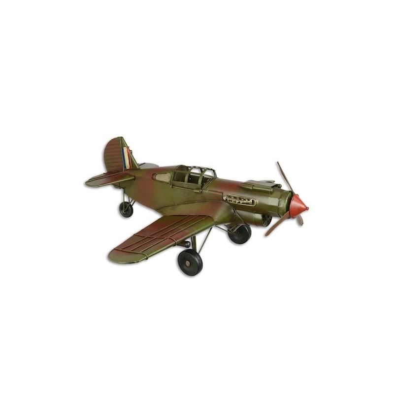 Modèle d'avion en tôle polychrome - Moinat SA - Antiquités décoration