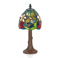 Lampe style Tiffany, décor papillon