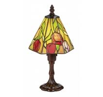 Lampe style Tiffany hexagonale, décor fleur