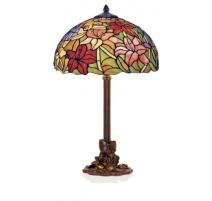 Lampe style Tiffany, décor fleurs