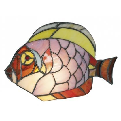 Lampe style Tiffany en forme de poisson
