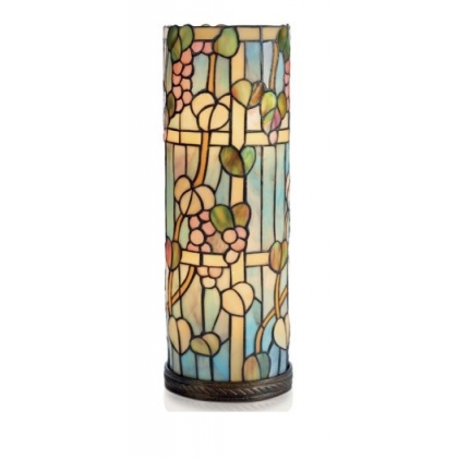 Lampe style Tiffany tube, décor Grapes de raisins