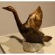 Cygne en bronze, signé REUSSNER