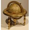 Globe terrestre en laiton