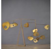 Mobile de table 70's coloris Bronze