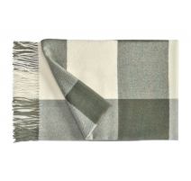 Plaid Carré en laine d'Alpaga coloris gris