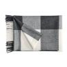 Plaid Carré en laine d'Alpaga coloris noir