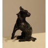 Bronze cloisonné Cheval acroupi