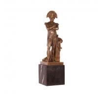 Bronze Napoléon, socle en marbre noir