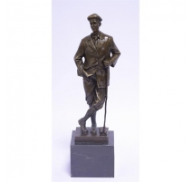 Bronze Golfeur socle en marbre