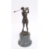 Bronze Golfeuse socle en marbre