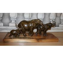 """Bronze """"Famille d'éléphants"""""""
