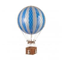Montgolfière Jules Verne Bleu et argent