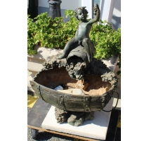 """Petite fontaine """"Bacchus"""" en bronze"""