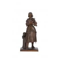 """Bronze """"Jeanne D'Arc"""" signé M. D'ORLÉAN"""