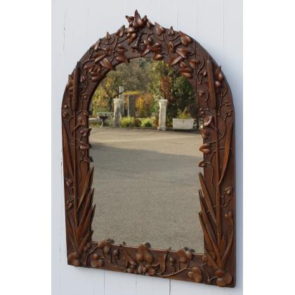 """Miroir sculpté Art Nouveau """"Roseaux"""""""