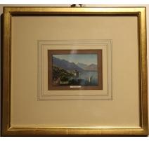 "Gravure aquarellée ""Chillon"""