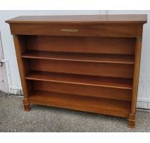 Bibliothèque ouverte style Empire avec un tiroir