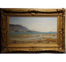 """Tableau """"Lac de Garde"""" par VEILLON"""