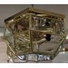 Plafonnier hexagonal en laiton