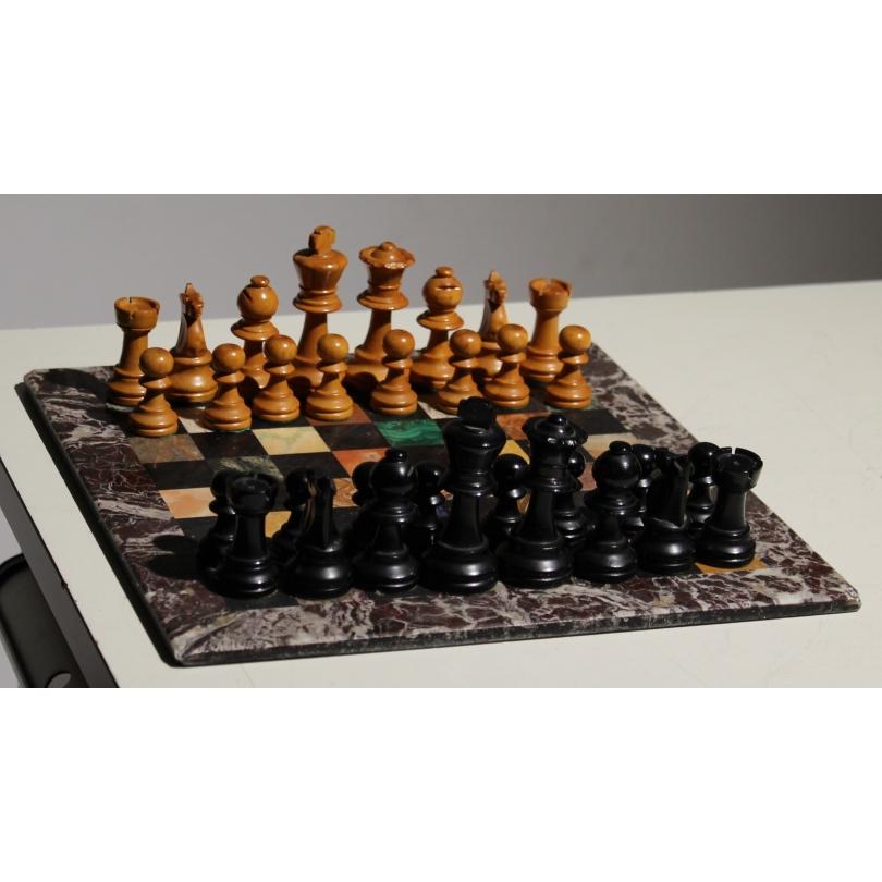 Jeux d'échec en marquetrie de marbre