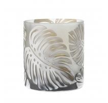 Vase esprit Nancy Feuilles Topicales en verre