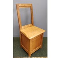 Chaise-coffre en chêne