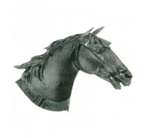 Cendrier tête de cheval en fonte grise