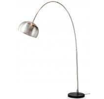 Lampe arche en métal, socle en marbre noir