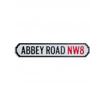 "Panneau vintage en bois ""Abbey Road NW8"""