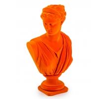 Buste d'Artemis en résine, feutre orange