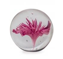 Presse-papier Fleure violette et blanche