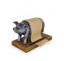 """Support à rouleau de papier """"Cochon argenté"""""""