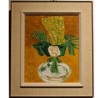 """Tableau """"Bouquet"""" signé BONNY 1969"""