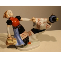 Enfants dansant en porcelaine de Herend